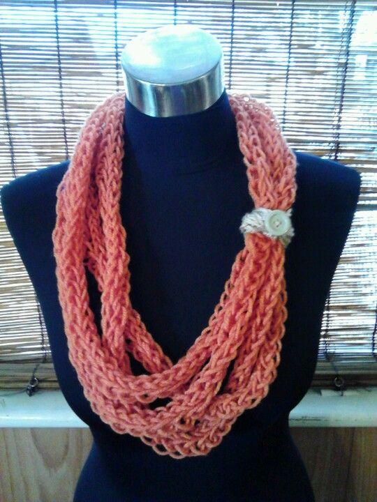 Finger Knitting Directions : Finger knit scarf scarves pinterest