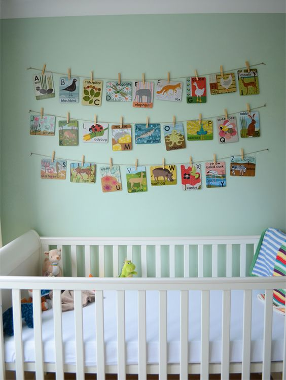 Boys woodland theme green nursery