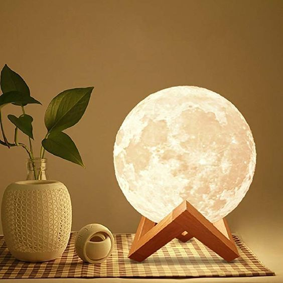 8 Moon Lamp Genuine Moon Light Lamps 6 11 3d Printed Moon Light With Stand The 3d Moon Lamp Wit Movie Room Decor Moon Light Lamp Pooja Room Door Design