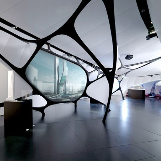 Organic Style A Zaha Hadid Interior Commercial Spaces