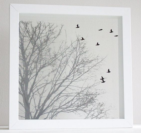 Hand Pulled Layered Screen Prints on Glass Oak by marianandhazel