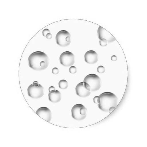 Bubbles in Black and White Stickers