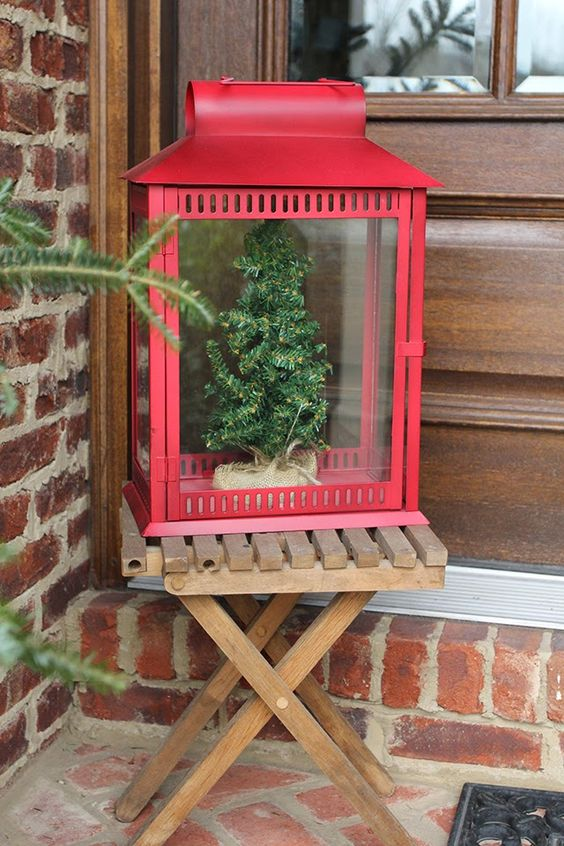 I love this lantern being used as a display case.  That is an idea that has so many possible applications.