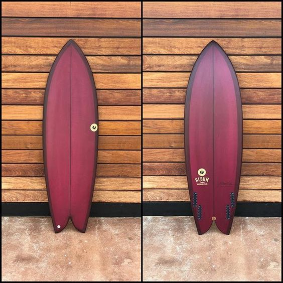"Beautiful 5'10"" X 21"" X 2.75"" UTF quad available now at @albumsurfhq and albumsurf.com // #albumsurfboards #albumutf"