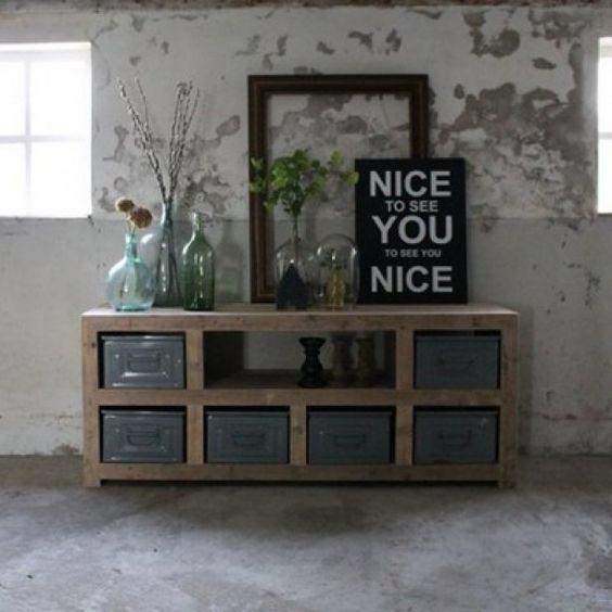Stoer meubel voor in woonkamer - Ideeu00ebn voor het huis : Pinterest ...