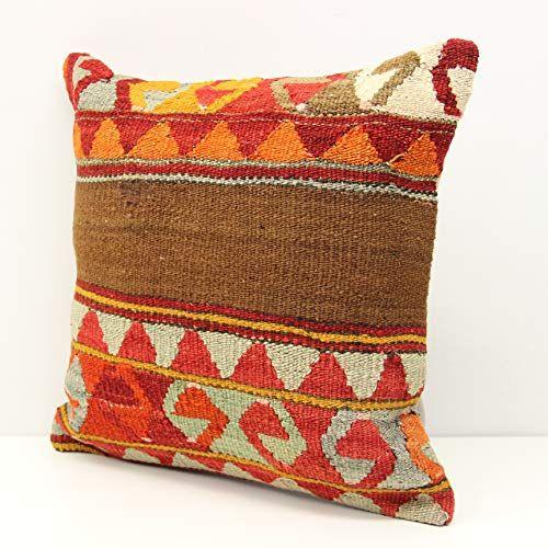 Patchwork kilim pillow cover 16x16 inch  40x40 cm
