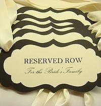 Reserved Wedding Ceremony Seating Pew or Chair Signs