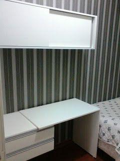 Adorei a idéia dessa bancada para espaços pequenos.