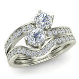 This wedding ring set is perfect for those marrying their best friends!