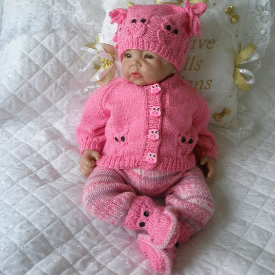 Free Knitting Patterns For Reborn Dolls : Knitting Pattern 17-22