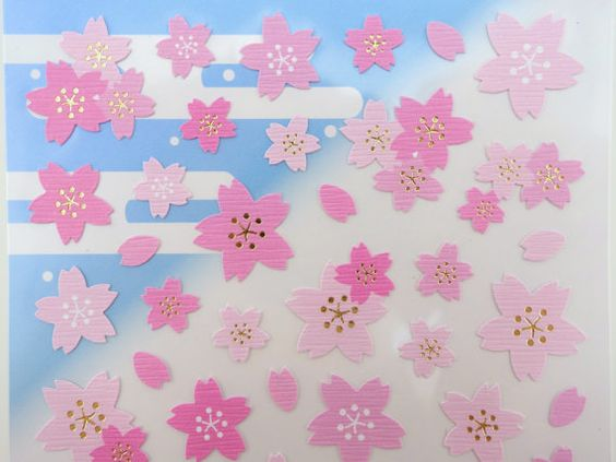 Japanese sakura cherry blossom chiyogami paper by 2FooDogs on Etsy
