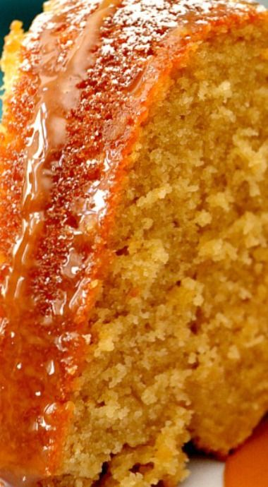 Best Brown Sugar Cake with Caramel Sauce