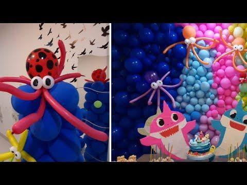 صنع اخطبوط من البالون لحفلة عيد ميلاد بيبي شارك How To Make Octopus For Baby Shark Birthday Youtube Baby Shark Shark Baby