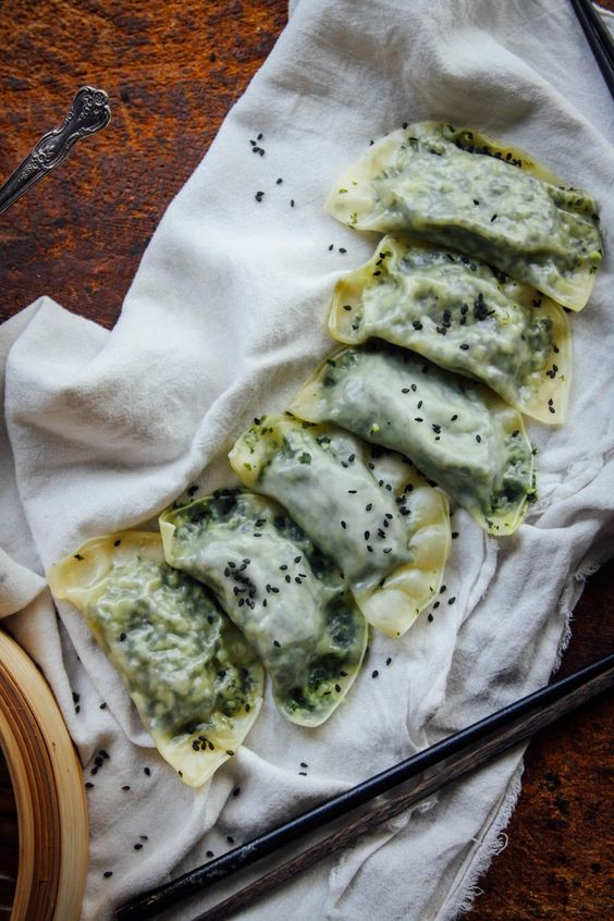Edamame and kale dumplings. No need to resist when something is this healthy and delicious!  This Rawsome Vegan Life