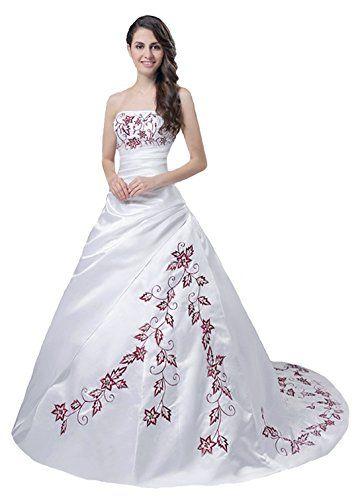 Faironly Trägerlos Weiß Rot Hochzeitskleid M56 (XS) FairOnly http://www.amazon.de/dp/B00NFC0TOM/ref=cm_sw_r_pi_dp_WLpqwb0R0C68S
