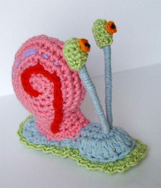 crochet Gary the Snail by meekssandygirl.deviantart.com on @deviantART