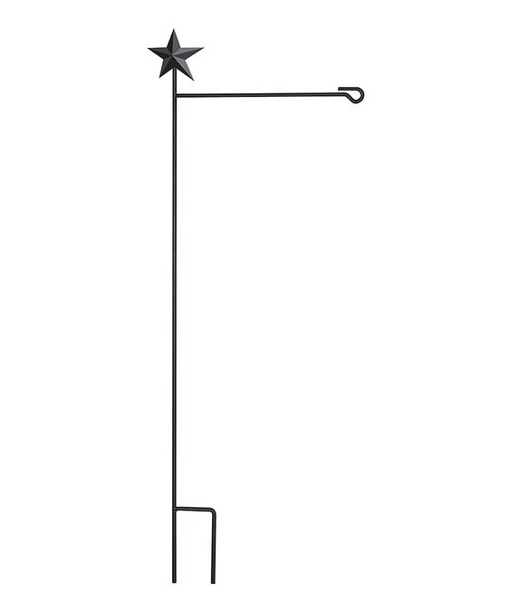 Love this Black Country Star Outdoor Flag Stand by Evergreen on #zulily! #zulilyfinds