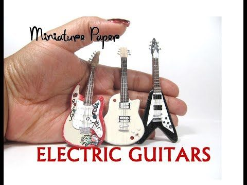 Plastic Miniature Guitar Musical Toy for 1:12 Scale Dollhouse Accessories