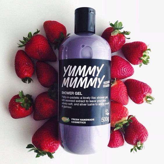"""Yummy Mummy Shower Gel: """"Pretty-in-pastels: a lovely lilac shower gel with seaweed extract to leave your skin velvety soft, and silver lustre to add a touch of glamour"""""""