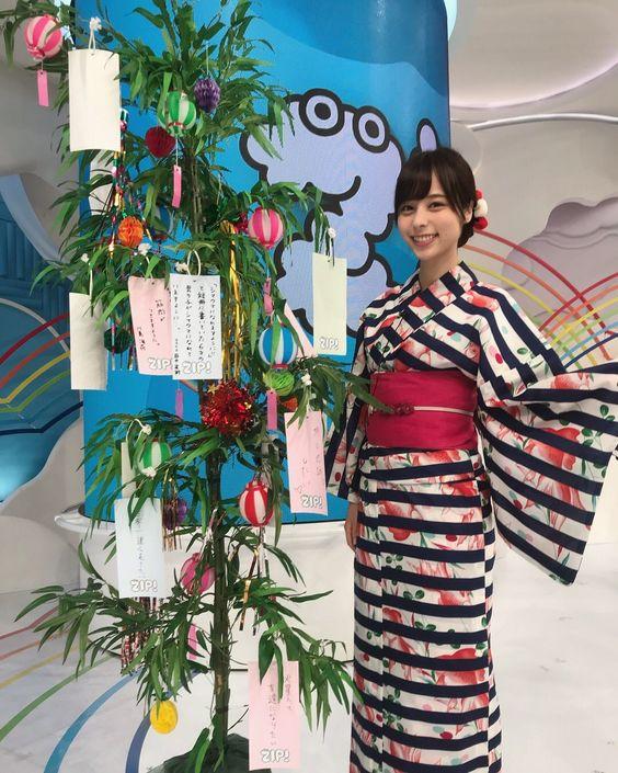 七夕の山本萩子アナ