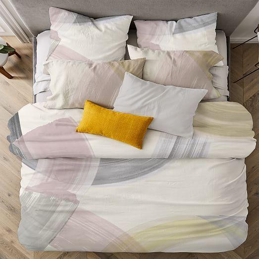 Tencel Sweeping Brushstrokes Duvet Cover Shams Duvet Covers Duvet Bed Duvet Covers