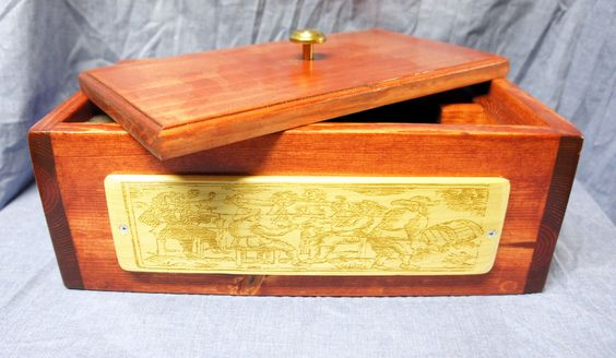 Hand crafted Double Wine Box by LittleCityEtching on Etsy