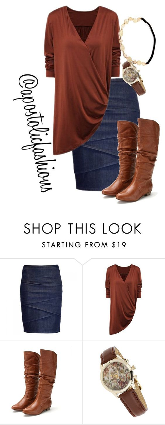 """""""Apostolic Fashions #1441"""" by apostolicfashions on Polyvore featuring Armani Jeans, Steve Madden and Miss Selfridge"""