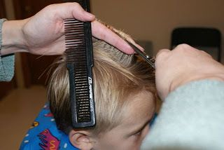 How to Cut Boys' Hair Like a Pro... or girl's hair, if your hair is like mine.... Now I'm crying.