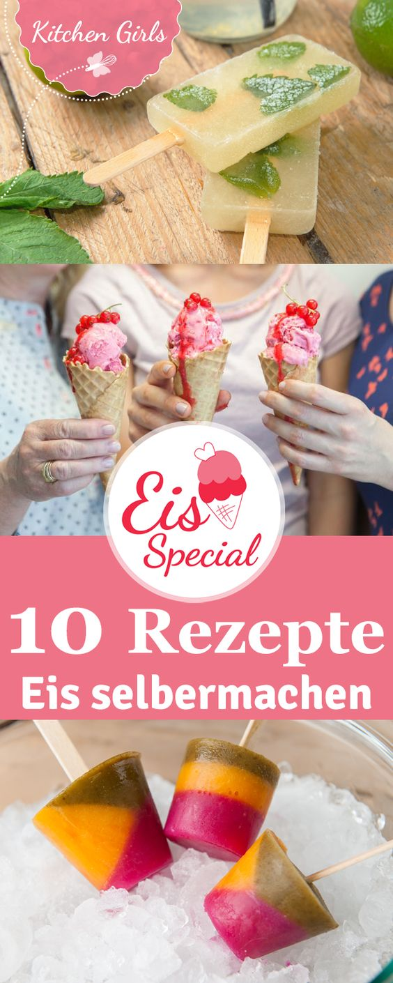 Egal ob kalorienarm, low-carb, vegan oder doch lieber super schokoladig: Das sind unsere 10 liebsten Eis-Rezepte!