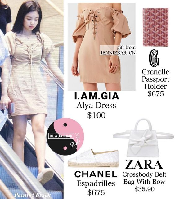 """I forgot necklace 😂😂 so it's from Chanel """"Coco Crush Necklace USD 4,600"""" You can see necklace from my post Jennie in green dress with…"""