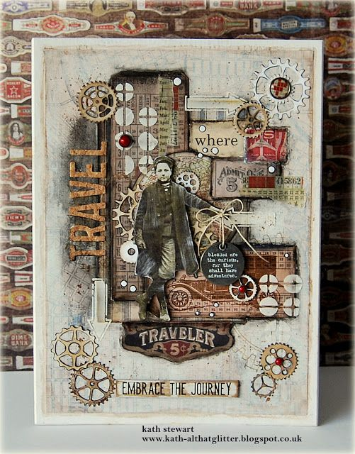 A Travel Theme Canvas Using Lots Of Layers Of Idea Ology