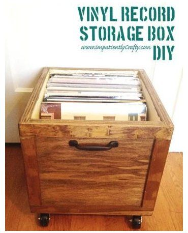 DIY LP Vinyl Record Storage Box with Wheels #lp #vinyl #record #storage DIY LP Vinyl Record Storage Box with Wheels | Do It Yourself Home Projects from Ana White