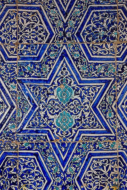 Bukhara Blue Tiles, Uzbekistan | Please like http://www.facebook.com/RagDollMagazine and follow @RagDollMagBlog @priscillacita