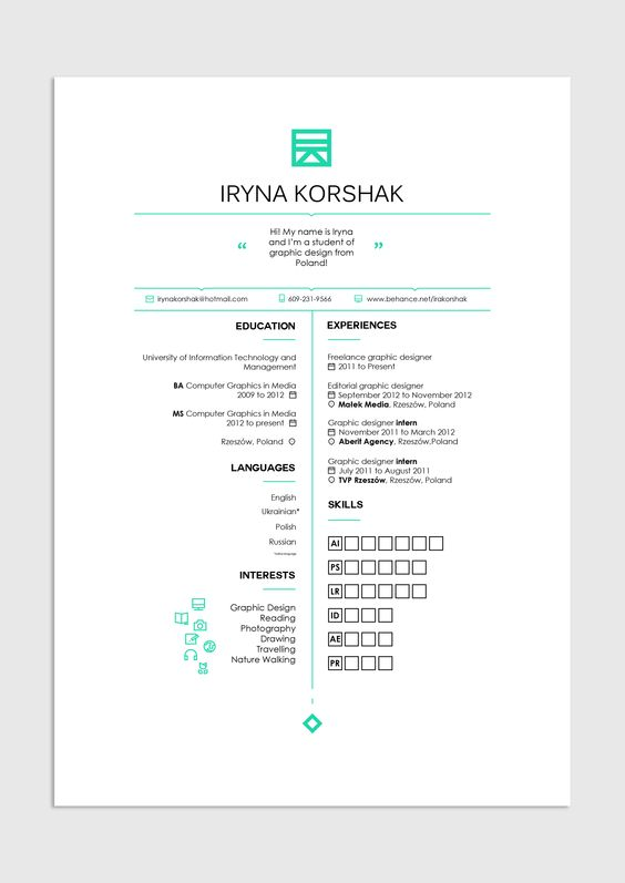 40 Creative CV Resume Designs Inspiration 2014 Web design blog - graphic design student resume