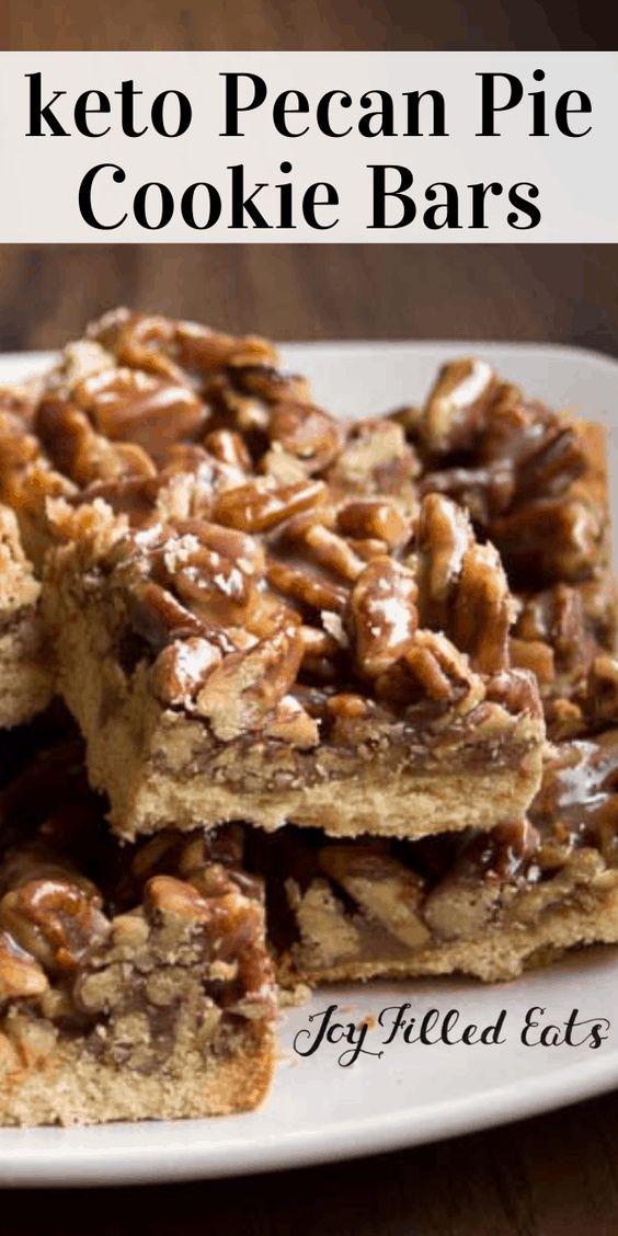 Keto Pecan Pie Bars - Low Carb, Sugar Free, Grain Free, THM S