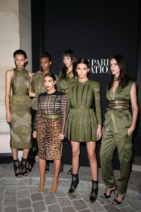 Kim looks like a minion haha. Fun Fact: Kendall Jenner Is Actually Super-Tall via @WhoWhatWear