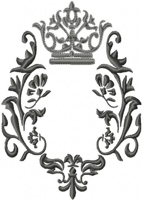 Crown and Fleur machine Embroidery Design by BlingSassSparkle