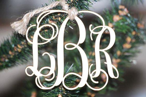 Monogram Christmas Ornament by lmoeller25 on Etsy, $12.00