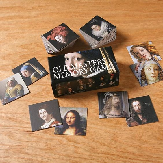 Old Masters Memory Game at Bas Bleu | UK5612  Great gift for a kid when sibling is born.