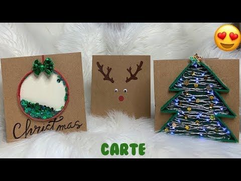 DIY CARTE DE NOEL⎮Reva ytb   YouTube | Noel, Diy, Christmas bulbs