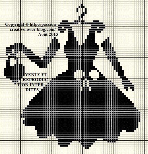 Grille gratuite point de croix une petite robe noire 2 - Blog point de croix grilles gratuites ...