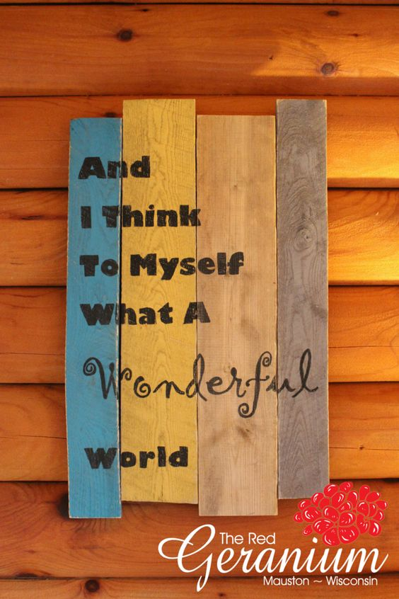One of our NEW locally made wooden signs! | Now at The Red Geranium Framing and Gifts in Mauston, WI