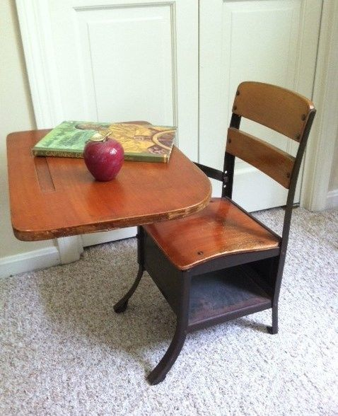 - Antique Child's Desk With Bench Bench, Desks And Children S
