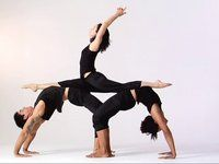 group yoga pose this looks like fun though very