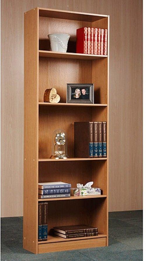 Adjustable Book Shelves Storage 5 Shelf Bookcase Solid Wood Bookshelf Shelving Orion Shelves Cheap Furniture Stores Bookcase