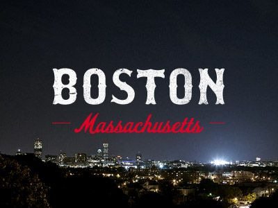 typography + city = boston