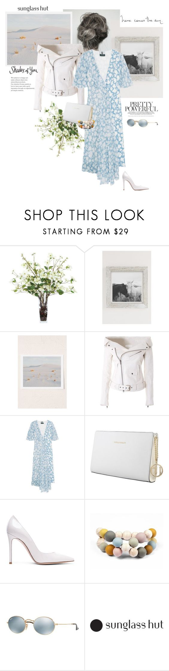"""Pretty Powerful"" by rever-de-paris ❤ liked on Polyvore featuring Lux-Art Silks, Urban Outfitters, Faith Connexion, Topshop Unique, Trussardi, Gianvito Rossi, Hring eftir hring and Ray-Ban"