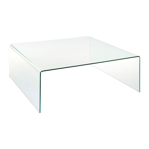 Matrix Coffee Table, Clear Bent Glass
