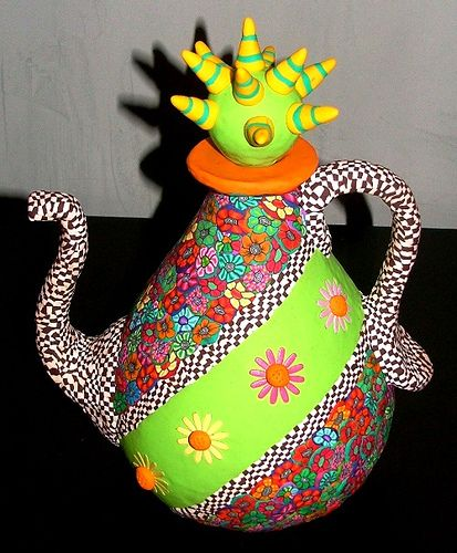 teapot... polymer clay...FUN!