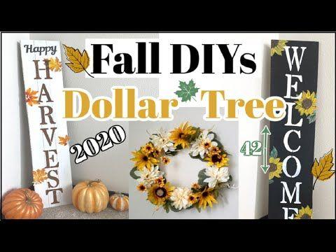 Fall Dollar Tree Diy Home Decor 2020 Fall Porch Decor Michaels Decor Dupes Youtube In 2020 Fall Decorations Porch Dollar Tree Fall Dollar Tree Diy